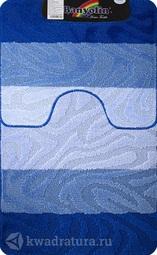 Коврик для ванной комнаты SILVER двойной синий 60*100 + 50*60 см (00238)