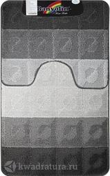 Коврик для ванной комнаты SILVER двойной антрацит 60*100 + 50*60 см 202004 (00241)