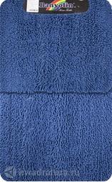 Коврик для ванной комнаты Moss 105 двойной синий 60*100 + 50*60 см (00406)