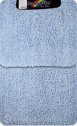Коврик для ванной комнаты Moss 106 двойной голубой 60*100 + 50*60 см (00407)