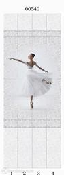 Стеновая панель ПВХ Panda Белые кружева Балерина