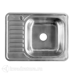 Кухонная мойка IDDIS Basic нержавеющая сталь, сатин, 65 см., BAS65SRi77