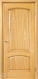 Дверь межкомнатная Дера 047 ГЛ дуб светлый