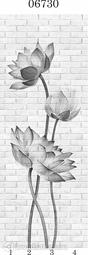 Стеновая панель ПВХ Panda Цветочные узоры 06730 (матовые)