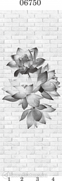 Стеновая панель ПВХ Panda Цветочные узоры 06750 (матовые)