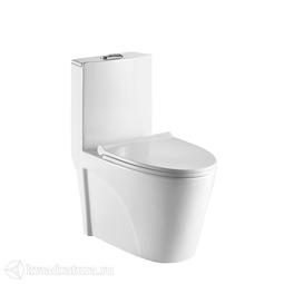 Унитаз моноблок Calypso CS1044AWS, сиденье дюропласт, микролифт, 660*350*780, белый