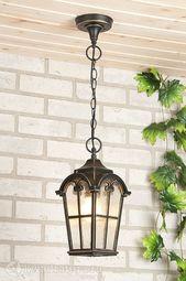 Подвесной уличный светильник Elektrostandard Mira H черное золото