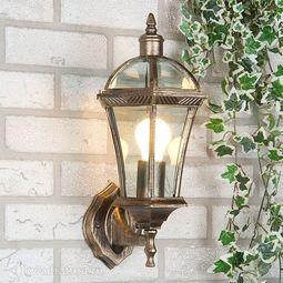 Настенный уличный светильник (Бра) Elektrostandard Capella черное золото