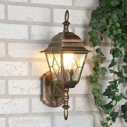 Настенный уличный светильник (Бра) Elektrostandard Vega U черное золото