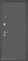 Дверь входная металлическая Бульдорс Mass 90 140 Букле графит / Ларче шоколад