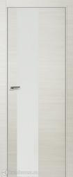 Дверь ProfilDoors 5Z ЭшВайт кроскут белый лак матовая хромка под скрытую систему Invisible