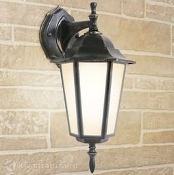 Настенный уличный светильник (Бра) Elektrostandard GL 1004D черное золото