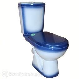 Унитаз-компакт Rosa Комфорт+ синий 3/6 л, сидение полипропилен