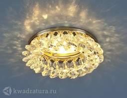 Встраиваемый точечный светильник Elektrostandard 206 золото/прозрачный