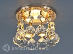 Встраиваемый точечный светильник Elektrostandard 2051-C золото/прозрачный