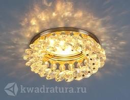 Встраиваемый точечный светильник Elektrostandard 206 золото/перламутровый
