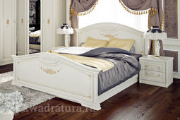 Двуспальная кровать «Лючия» с подъемным механизмом (Штрихлак) без матраса ТР