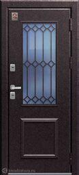 Дверь входная металлическая Центурион Т-1 PREMIUM Медный муар/Миндаль