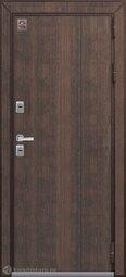 Дверь входная металлическая Центурион Т-3 PREMIUM Шоколад муар+тиковое дерево/Дуб полярный
