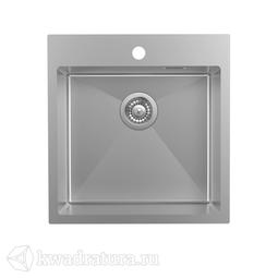 Кухонная мойка IDDIS Haze нержавеющая сталь, сатин, 49*51 см., HAZ49S0i77