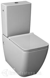 Унитаз-компакт Jika Pure нижняя подводка, вертикальный выпуск, сиденье дюропласт с микролифтом/быстросъем