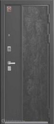Дверь входная металлическая Центурион LUX-7 Серый шелк+серый камень/софт грей