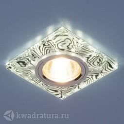 Встраиваемый точечный светильник Elektrostandard 8361 белый/черный LED