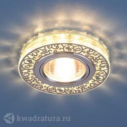Встраиваемый точечный светильник Elektrostandard 6034 хром/прозрачный LED