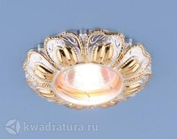 Встраиваемый точечный светильник Elektrostandard 7215 перламутровый/золото