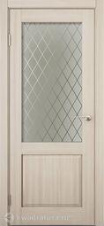 Дверь межкомнатная Дера Эталон 340 шимо, стекло сатинато
