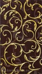 Декор для настенной плитки InterCerama Fantasia коричневый 40*23 см