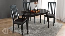 Обеденный стол раздвижной на деревянных ножках Ницца Т15 вариант 4 ТР