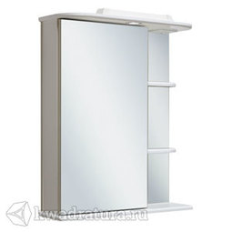 Шкаф зеркальный навесной Руно Магнолия 50 левый белый