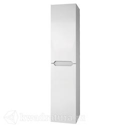 Пенал Dreja QL 35, подвесной/напольный, универсальный, 2 дверцы, 4 стеклянные полки, белый глянец