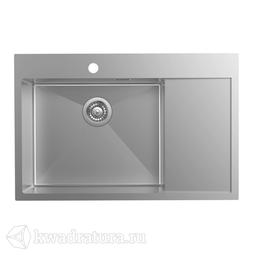 Кухонная мойка IDDIS Haze нержавеющая сталь, сатин, 78*51 см., HAZ78SLi77