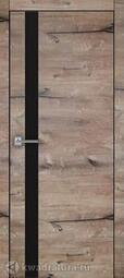 Межкомнатная дверь Дера Royal 2 дуб пацифика, черная кромка