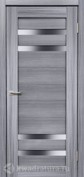 Межкомнатная дверь Дера Мастер 636 сандал серый стекло сатинато