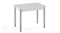 Стол Родос Тип 1 с опорой d50 (Хром/Белый) ТР