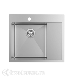 Кухонная мойка IDDIS Haze нержавеющая сталь, сатин, 59*51 см., HAZ59SLi77