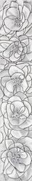 Бордюр для настенной плитки InterCerama Brina 7*40 см