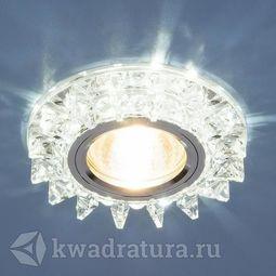 Встраиваемый точечный светильник Elektrostandard 6037 зеркальный/серебро LED