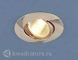 Встраиваемый точечный светильник Elektrostandard 8004A перламутр серебро/никель
