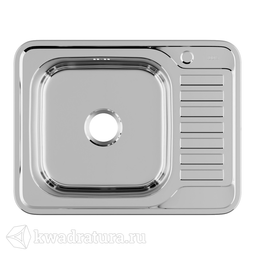 Кухонная мойка IDDIS Basic нержавеющая сталь, полированная, 65 см., BAS65PLi77
