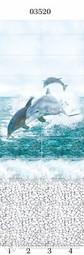 Стеновая панель ПВХ Panda Море дельфины