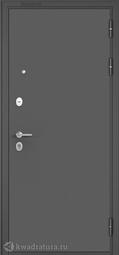 Дверь входная металлическая Бульдорс Mass 90 140 Букле графит / Ларче бьянко