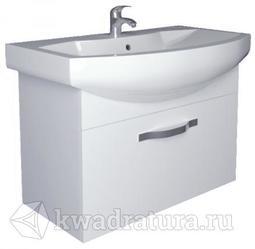 Тумба 1Marka Вита 65П 1 выдвижным ящиком Белый глянец с раковиной Балтика 65
