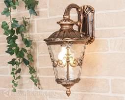 Настенный уличный светильник (Бра) Elektrostandard Diadema D черное золото