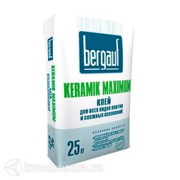 БЕРГАУФ Клей для всех видов плитки на сложные основания Керамик Максимум Плюс (25кг)