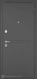 Входная дверь металлическая Бульдорс Mass 90 CR-4 Букле графит/Ларче шоколад (черный лакобель)
