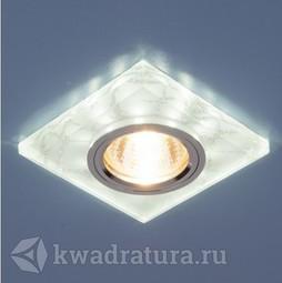 Встраиваемый точечный светильник Elektrostandard 8361 белый/серебро LED